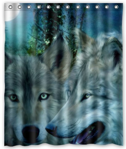 Amazon Outlet Seller Custom Brave And Fast Wolf Shower Curtain