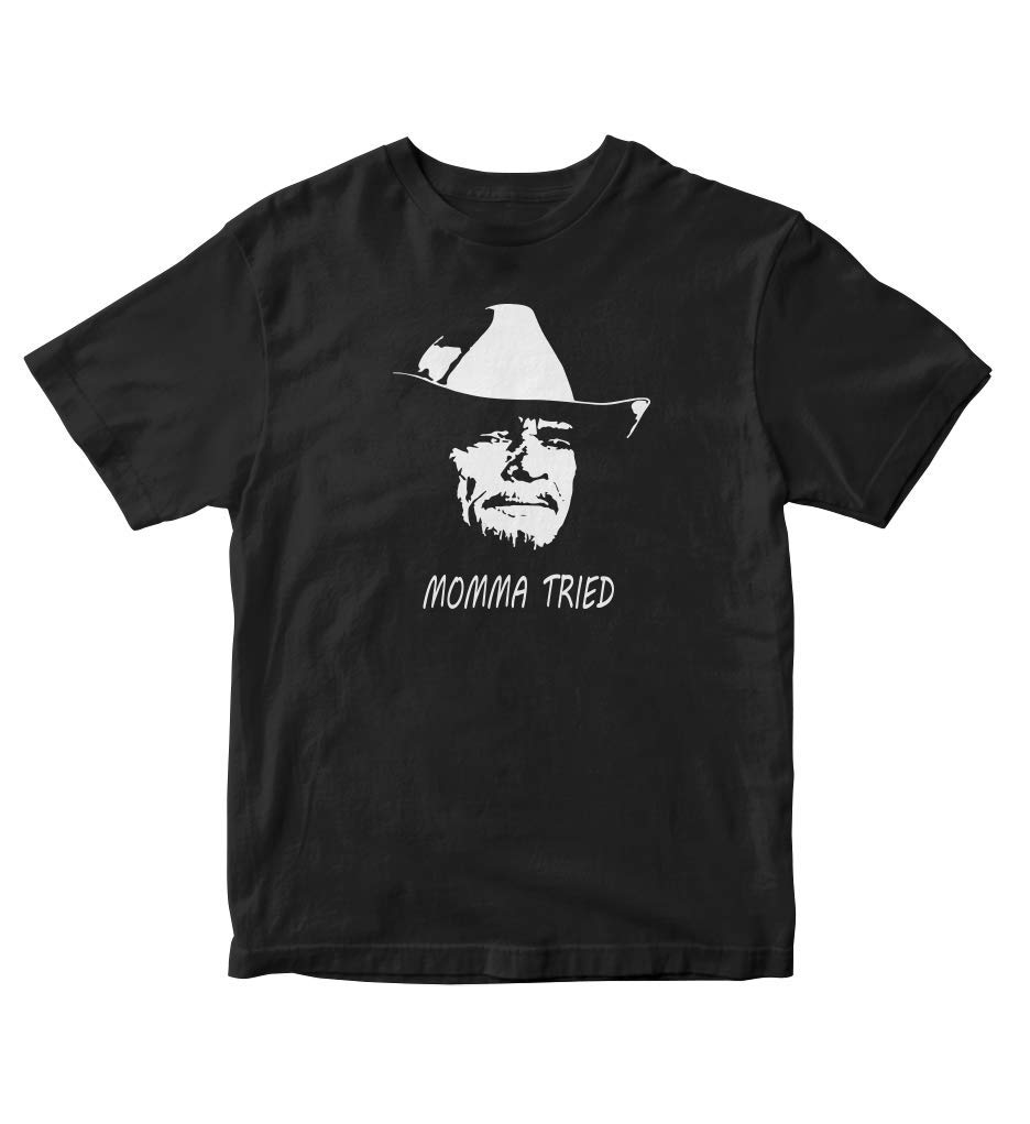 Tjsports Merle Haggard Momma Tried Country Black Shirt S Music 100