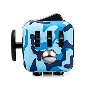 CPEI Anxiety Attention Toy Spinner Fidget Cube for Children and Adults ,Camouflage blue,