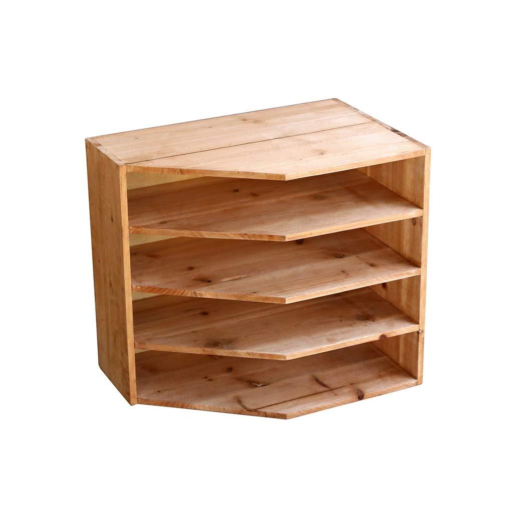 QSJY File Cabinets Wooden Document Storage Cabinet, Desktop Extension Drawer Office Organizer 38x25x34cm