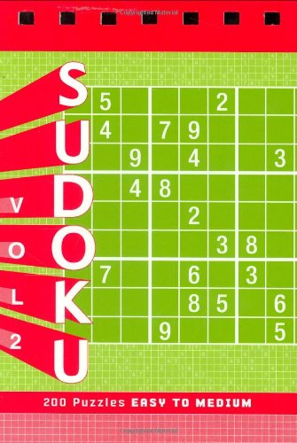 Sudoku Vol. 2 Puzzle Pad: Easy to Medium Spiral-bound – September 6, 2007 Xaq Pitkow Chronicle Books 0811861163 GENERAL