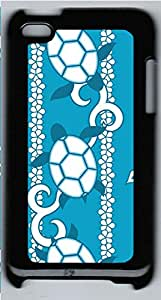 iPod 4 Case, iPod 4 Cases - Hawaiian Blue PC Polycarbonate Hard Case Back Cover for iPod 4¨CBlack