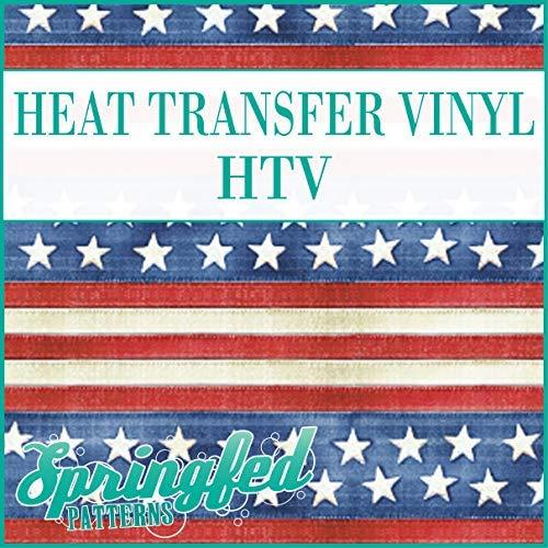 OLD GLORY American Flag Pattern HTV Heat Transfer Vinyl 12
