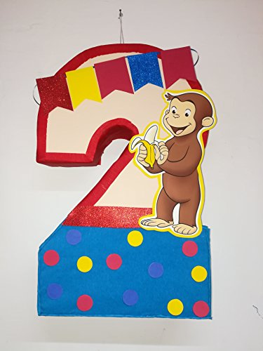 (George curious number 2 pinata, George curious birthday party, George curious party)
