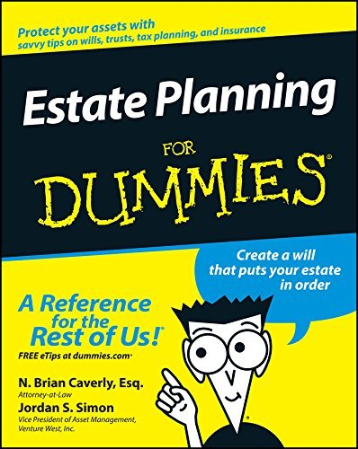 Estate Planning For Dummies by N. Brian Caverly (2003-03-07)