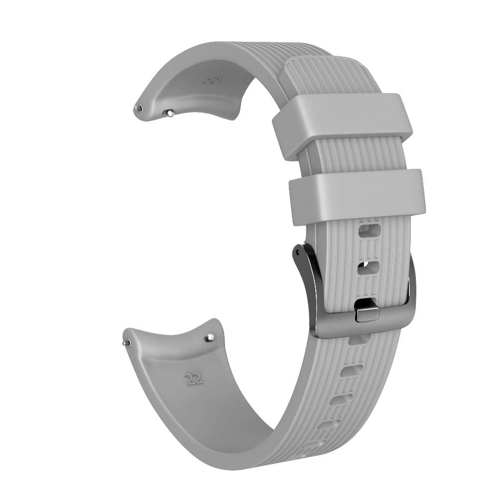 YRD TECH 46mm Fit Samsung Galaxy Watch Sport Soft Silicone Replacement Strap Watch Band f (Gray, 22MM)