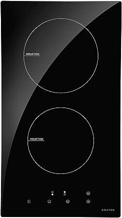 NOXTON Placa Vitrocerámica con 4 Zonas De Cocción Construido en Placas eléctricas de 60 cm Placa Caliente de Cristal Negro Estufa con Sensor de Control táctil Superior [Classe énergétique A +]: Amazon.es: Hogar