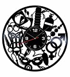 Sex Shop Intimate Wall Clock Made of Vintage Vinyl Records - Stylish clock and Amazing Gift Idea – Unique Home Decor – Personalized Presents for Men Women – Great for Living Room Bedroom Kitchen