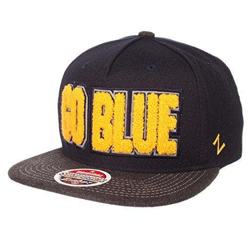 Zephyr NCAA Michigan Wolverines Men's Jock Snapback Hat, Adjustable, Gray/Team Color
