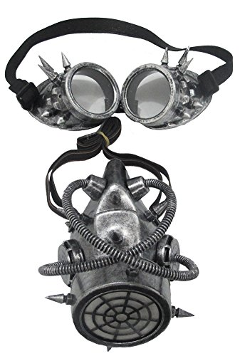 Halloween Mask- Gas Mask And Goggles -Scary (Scary Gas Mask Costume)