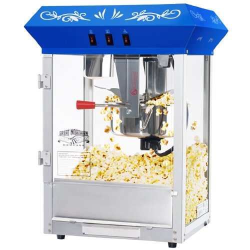(6114 Great Northern Popcorn Blue Foundation Popcorn Popper Machine, 8 Ounce)