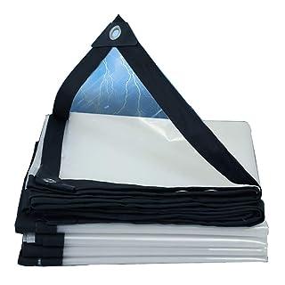 HQCC Telone Trasparente con Occhielli PE, Copertura Antipolvere per Camion Resistente agli Strappi per Esterni, Disponibile in Diverse Misure 120g / ㎡