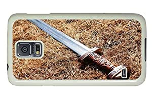 Hipster luxury Samsung Galaxy S5 Case roman sword PC White for Samsung S5