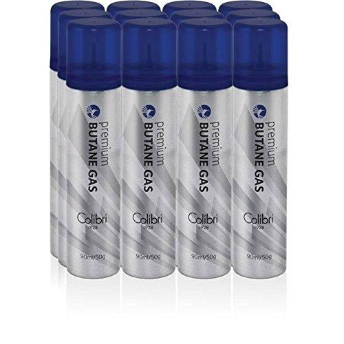 Colibri Premium Butane 90ml/50 Grams - 12 Pack+ FREE Torch lighter