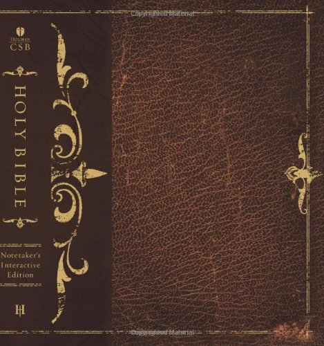 HCSB Interactive Notetaker's Bible, Brown Hardcover pdf