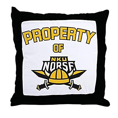 Northern Kentucky Nku Norse Property of Throw Pill Canvas Throw Pillow Covers 18 x 18 Home Decor Farmhouse Throw Pillows Case Cushion Covers Decorative for Gifts