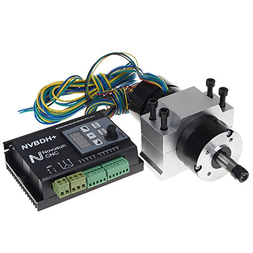 UCONTRO 24-60V DC CNC Brushless Driver Kit 400W ER8 Brushless Motor with Hall & 600W Driver with Control Panel & Motor Mount