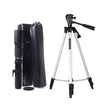 Kelda Super 500 mm f/8 - 32 teleobjetivo + 53 pulgadas trípode ...