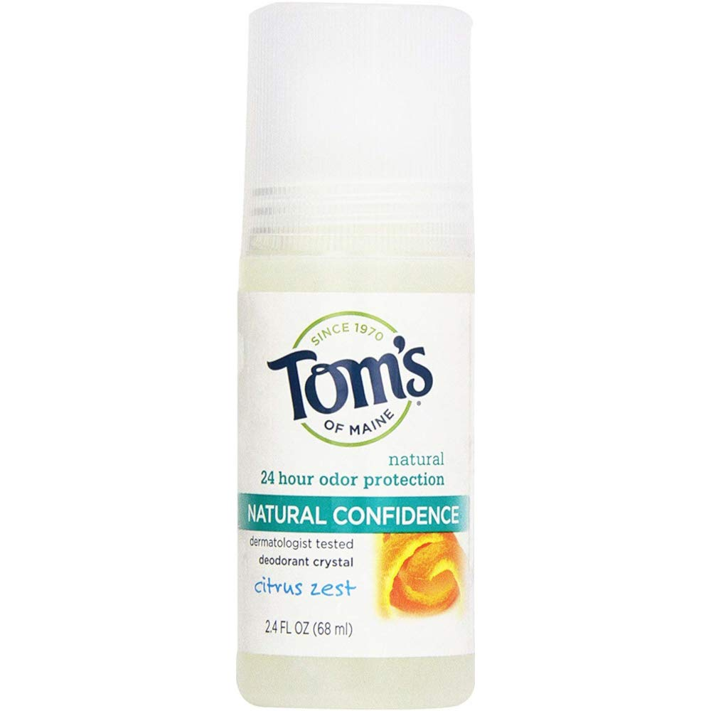 Tom's of Maine Natural Confidence Deodorant Citrus Zest, 2.4 Ounces (Value Pack of 3)