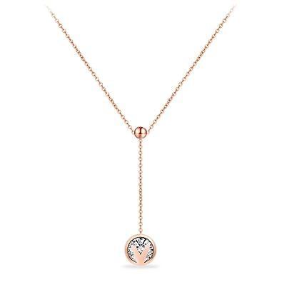 a8742a782040 Emma Gioielli - Collar Para Mujer Gargantilla Cadena Y en Acero Inoxidable  Ch. en Oro Rosa con ...