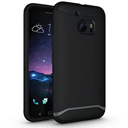 HTC 10 Case, TUDIA Slim-Fit Merge Dual Layer Protective Case for HTC 10 (HTC One M10) (Matte Black)