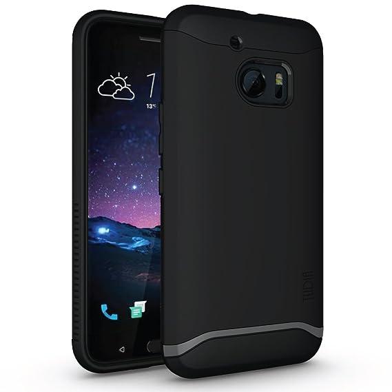 finest selection d9493 e0bb3 HTC 10 Case, TUDIA Slim-Fit Merge Dual Layer Protective Case for HTC 10  (HTC One M10) (Matte Black)