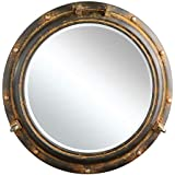 Creative Co-Op Porthole Mirror, Rust Metal