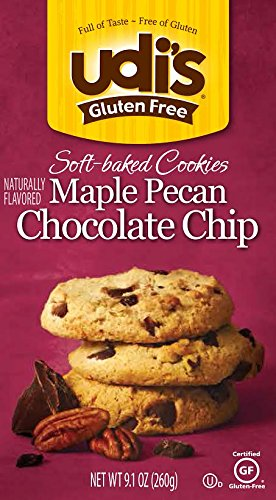 Bulk Udi's Gluten Free Chocolate Chip Pecan Cookie 6 to 24 packs each 9.17OZ