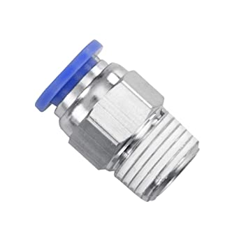PC-05-02 5//16 Tube OD x 1//8 NPT Thread Male Straight Connector Push to Connect Pneumatic Tube Fitting 5 Pack