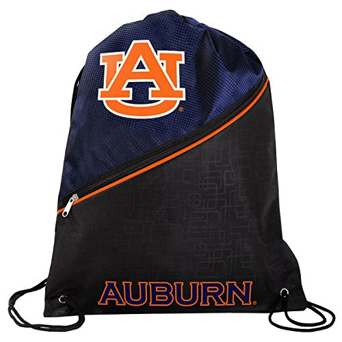Auburn High End Diagonal Zipper Drawstring Backpack (Auburn String Pack)