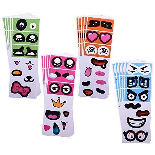 Bluecell 20pcs DIY Adhesive Face Expression Stickers Cartoon