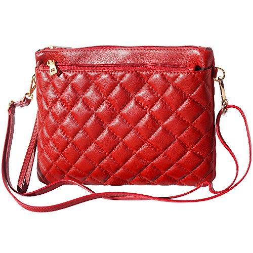 En Vachette Matelassé 6143 Fait Leather Florence De Market Cuir Wristlet Rouge anBPIwxq7F
