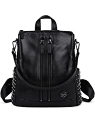 ZOOLER Women Leather purses Backpack Fashion Travel Bag Large Capacity Shoulder Bag