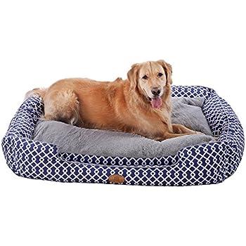 Amazon.com : PLS Birdsong Paradise Bolster Dog Bed for
