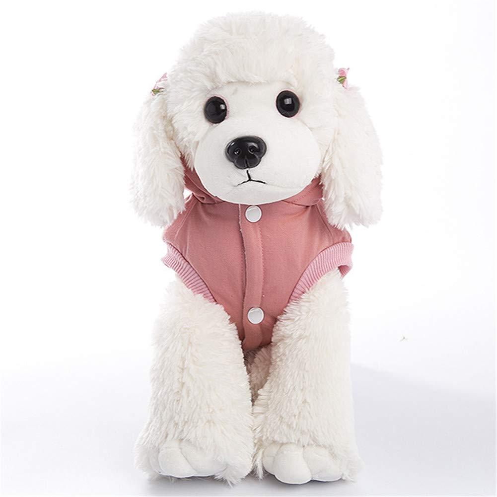 GODGETS Vestitino Elegante con Cappuccio per Cani di Piccola Taglia Rosa S