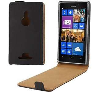Case Funda Vertical Funda de Piel Sintética Con Tapa Para Nokia Lumia 925 (Black)
