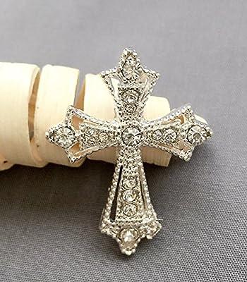 10 pcs Rhinestone Buckles Wholesale Buckle Crystal Slider Silver Wedding Invitation Baby Shower Scrapbooking BK115