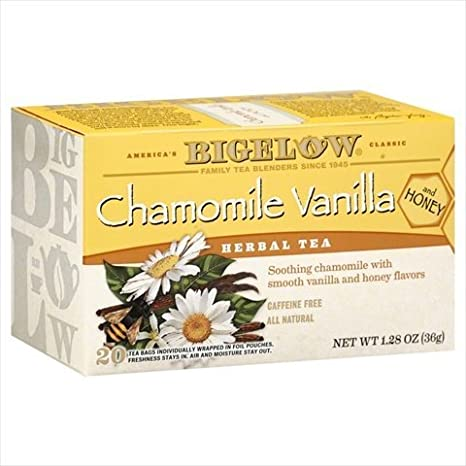 Bigelow Chamomile Vanilla Herbal Tea with Honey - 20 bags per pack - 6 packs per case. natural sleep aids - 5138p3uTz9L - Natural sleep aids – the best supplements to end sleepless nights