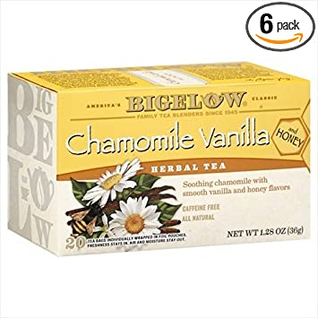 Bigelow Chamomile Vanilla Herbal Tea with Honey - 20 bags per pack - 6 packs per case. natural sleep aids Natural sleep aids – the best supplements to end sleepless nights 5138p3uTz9L