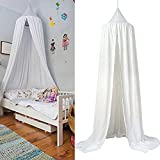 Princess Bed Canopy Mosquito Net for Kids Baby Crib Round Dome Kids Indoor Outdoor Castle Play Tent Cotton Cloth Tents Childrens Room Decorate Hanging House Decoration Reading nook Cotton Canvas