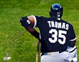 Autographed Thomas Picture - 16x20 16855 - PSA/DNA Certified - Autographed MLB Photos
