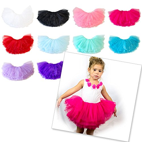 My Lello Big Girls 10-Layer Short Ballet Tulle Tutu Skirt (4T-8yr)