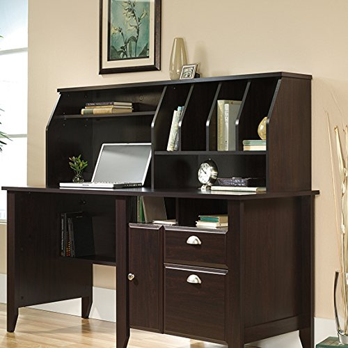 Sauder Shoal Creek Hutch in Jamocha Wood by Sauder