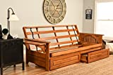 Cheap Phoenix Futon in Barbados Finish with Storage Drawer