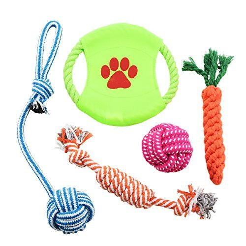 Ankosen Puppy Rope Chew Toys 5 Pack, Variety Dog Toys For Medium to Small Doggie