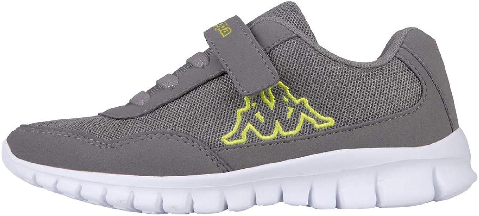 Kappa Follow Sneakers Mädchen Jungen Unisex Kinder Grau/Lime