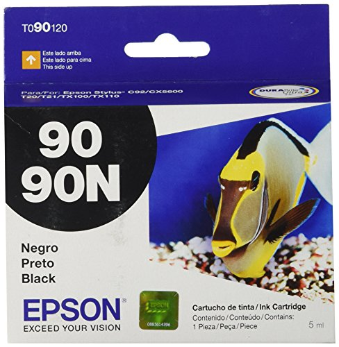 Catridge Model (Epson 90/90N Black Ink Catridge for Stylus C92 CX5600 - Model T090120)