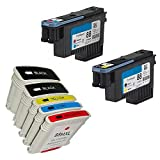 YATUNINK Combo Sets Replacements For HP 88 Printer head BK/Y C/M (C9381A C9382A) And HP 88XL Ink Cartridges For HP OfficeJet Pro K8600, L7590, K5300, K5400dn