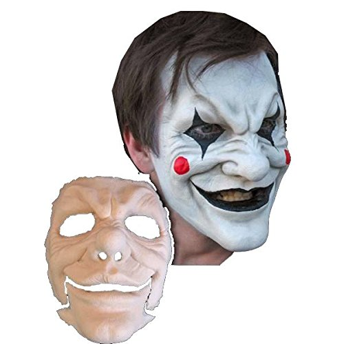 Jester Foam Latex Mask Prosthetic Professional Grade Theater Appliance
