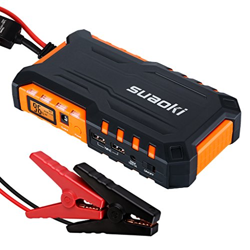 Suaoki G7 600A Peak 18000mAh Portable Car Jump Starter Battery Booster with Dual USB Charging Port and LED Flashlight (Car Battery Jumper Box compare prices)